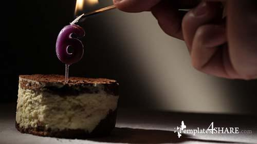 Candle 6 In Tiramisu Cake - After Effects Motion Graphics (Videohive)