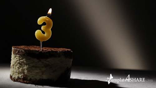 Candle 3 In Tiramisu Cake - After Effects Motion Graphics (Videohive)