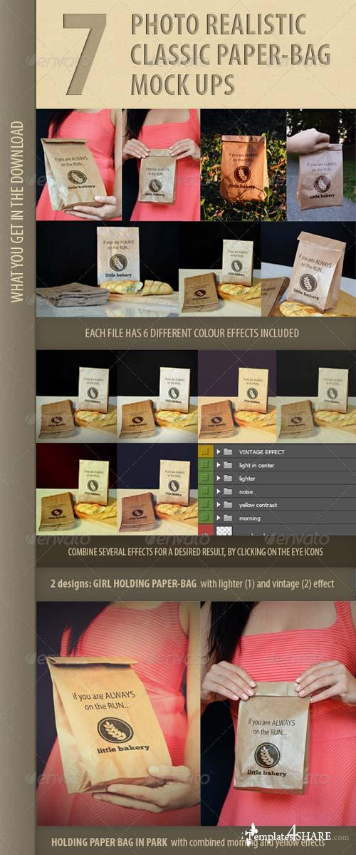 GraphicRiver 7 photo-realistic paper bag mock-ups