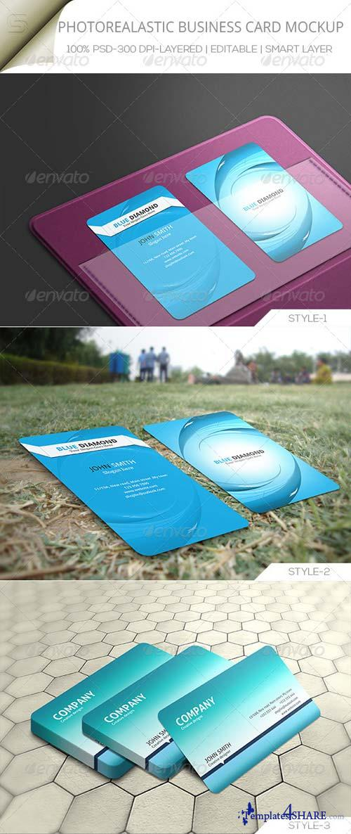 GraphicRiver Photorealastic Business Card Mock-up .