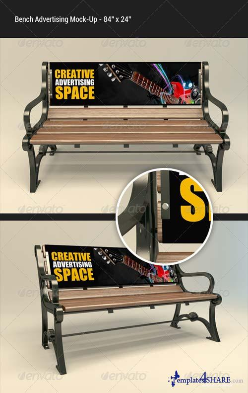 GraphicRiver Bench Advertising Mock-Up