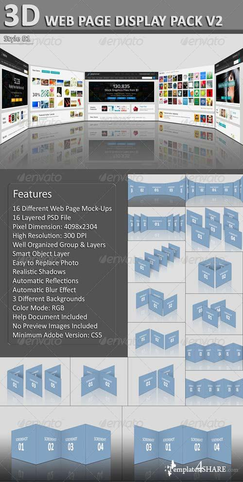 GraphicRiver 3D Web Page Display Pack V2