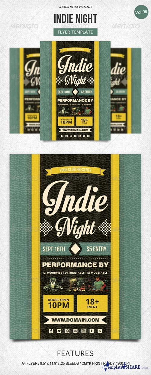 GraphicRiver Indie Night - Flyer [Vol.9]