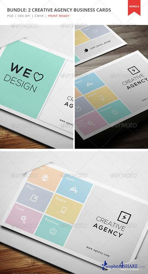 GraphicRiver Bundle: 2 Creative Agency Business Cards