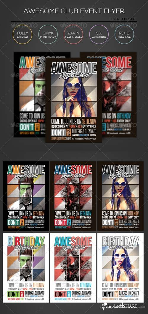 GraphicRiver Awesome Club Event Flyer