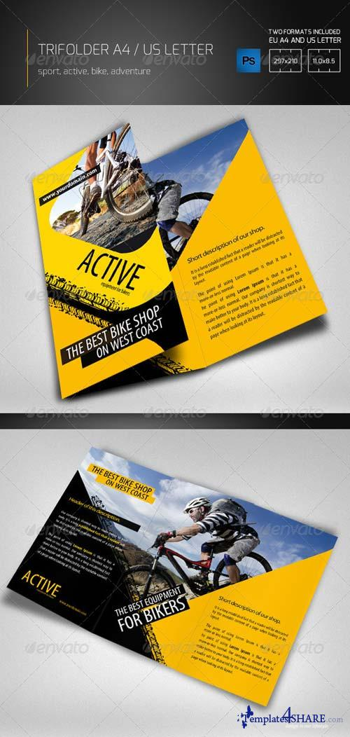 GraphicRiver Black Yellow Tri Fold