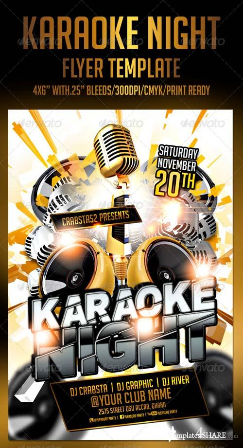 Karaoke Night Party Flyer Template Free Image Gallery  Hcpr