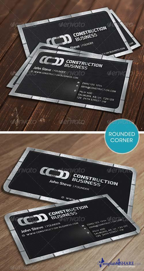 GraphicRiver Construction Metalic Business Card