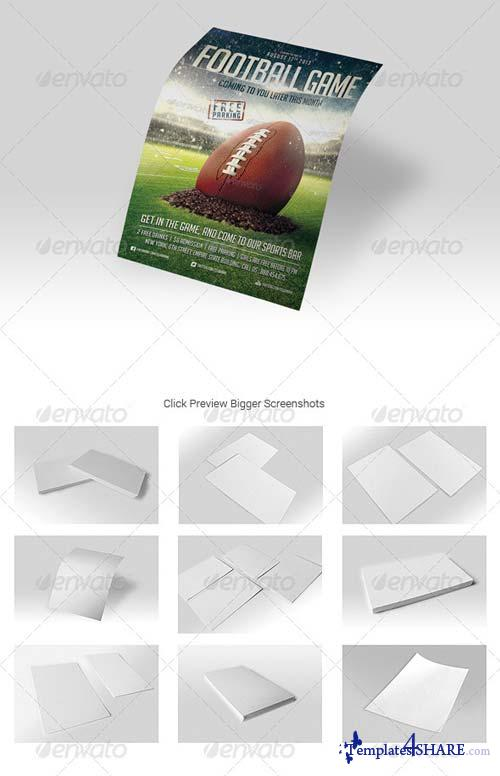 GraphicRiver 14 REALISTIC U.S. FLYER MOCK-UPS