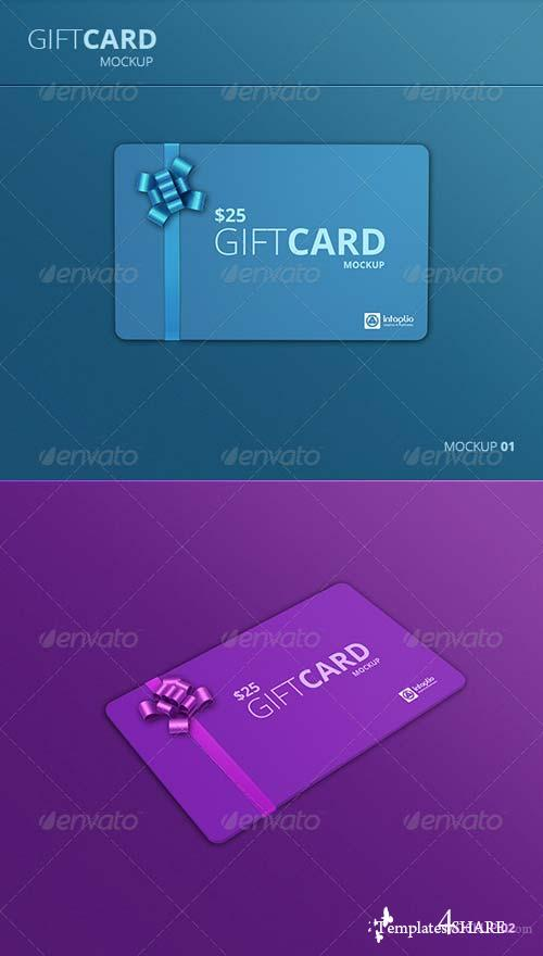 GraphicRiver Gift Card Mockup v2