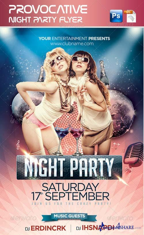 GraphicRiver Provocative Night Party Flyer