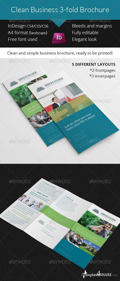 GraphicRiver Clean Business 3-fold Brochure Indesign Template
