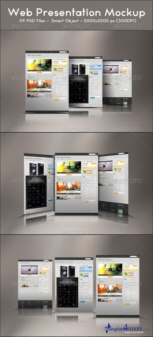 GraphicRiver Web Presentation Mockup