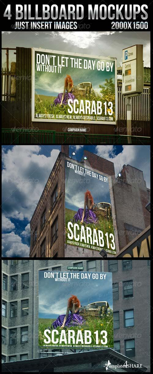GraphicRiver 4 Billboard Mockups