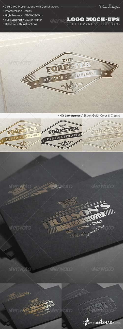 GraphicRiver Logo Mock-Ups / Letterpress Edition