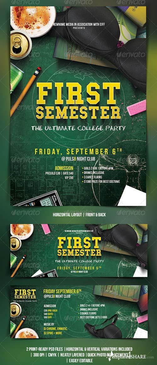 GraphicRiver College Party Flyer