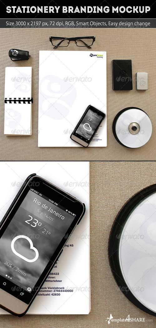 GraphicRiver Stationery Branding Mockup Template