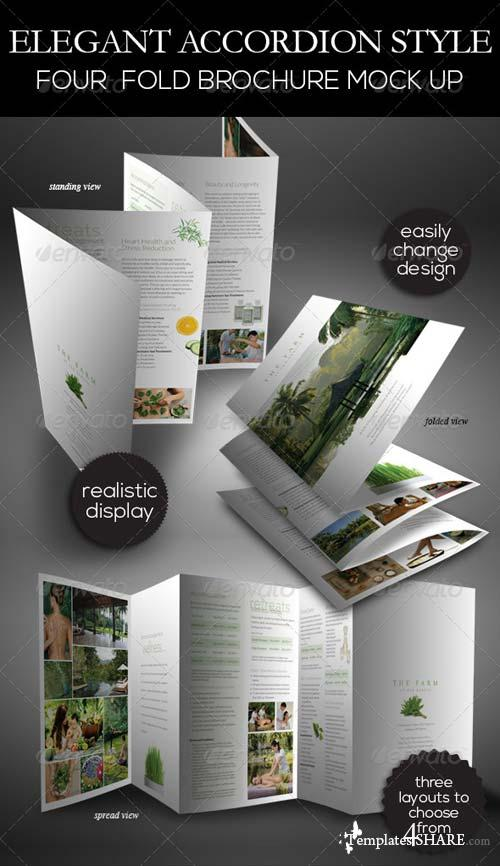 GraphicRiver Elegant Accordion Style Brochure Mock Up