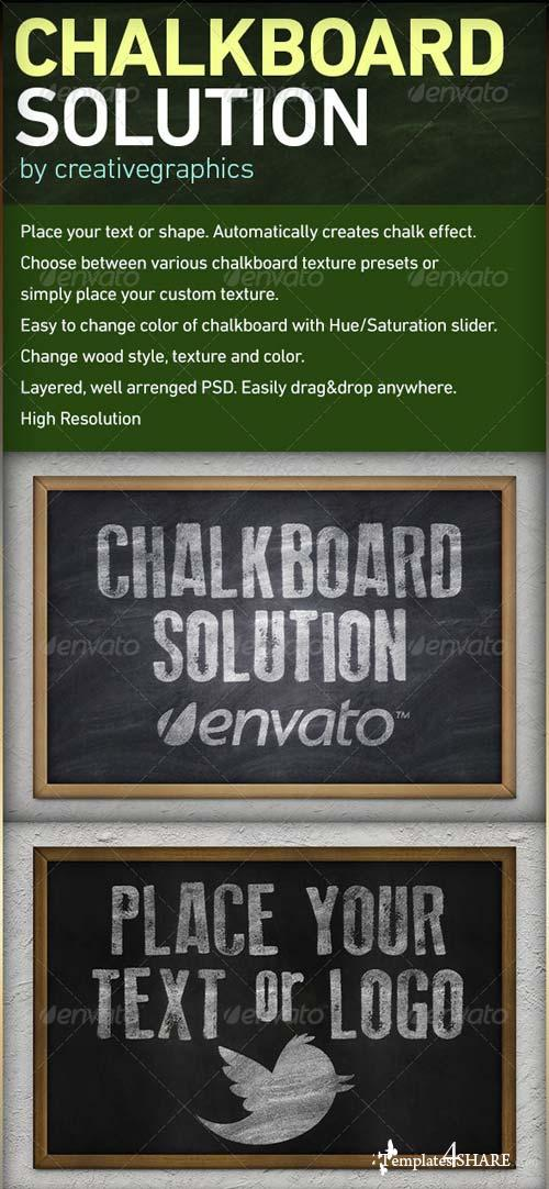 GraphicRiver Chalkboard Solution