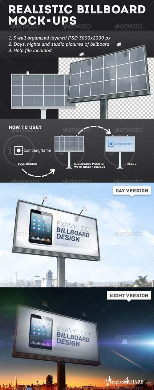 GraphicRiver Realistic Billboard Mock-Ups