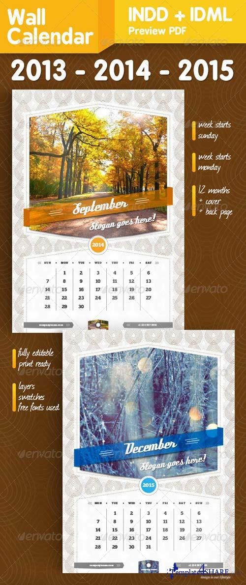 GraphicRiver Wall Calendar A3 14 pages