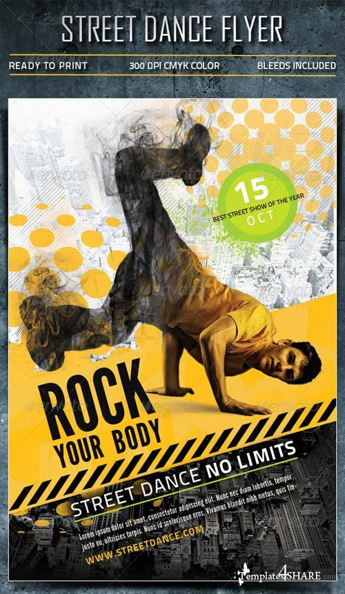 GraphicRiver Street Dance Flyer 5461547