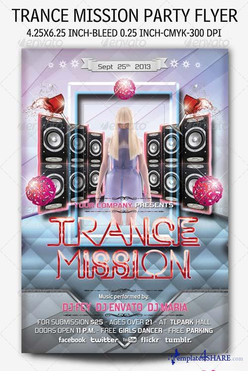 GraphicRiver Trance Mission Party Flyer