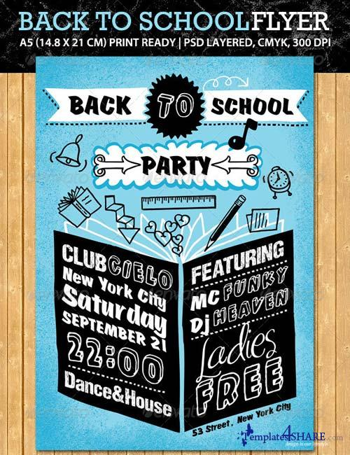 GraphicRiver Back to School Party Flyer