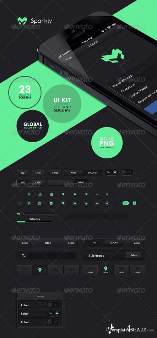 GraphicRiver Sparkly iOS UI Set