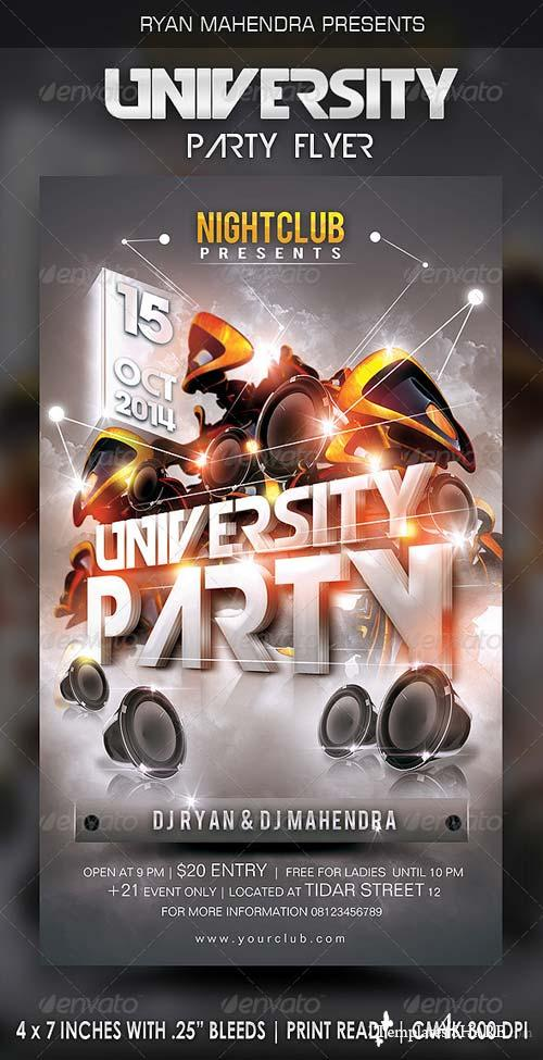 GraphicRiver University Party Flyer