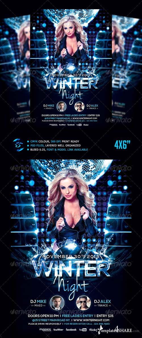 GraphicRiver Winter Night Flyer Template
