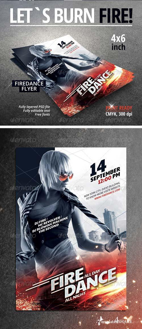 GraphicRiver Fire Dance Party Flyer