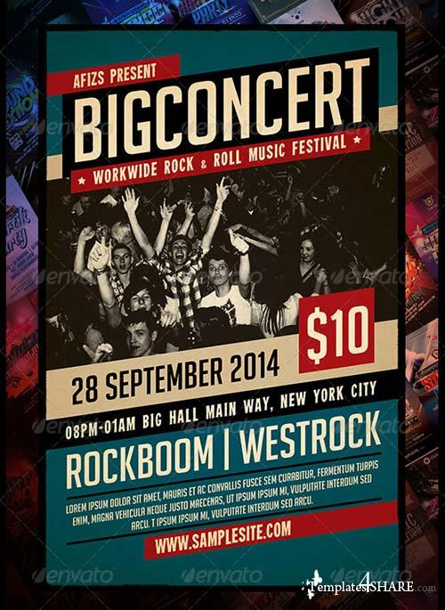 GraphicRiver Big Concert Music Flyer