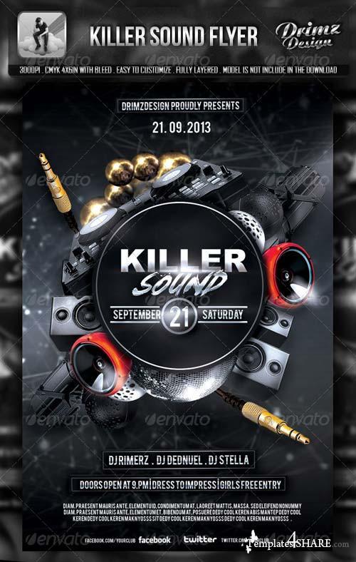 GraphicRiver Killer Sound Flyer