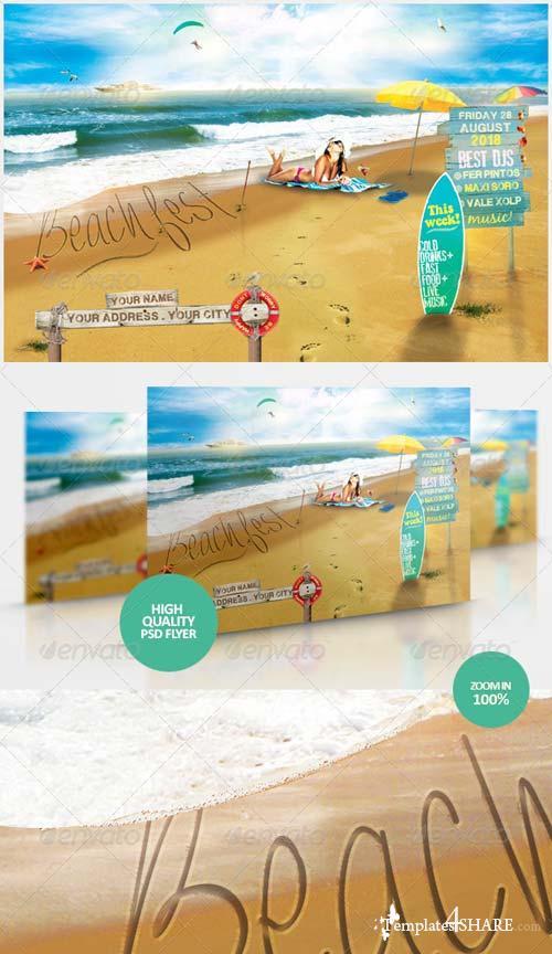 GraphicRiver Beach Fest Flyer Template