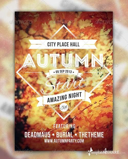 GraphicRiver Autumn Start - Events Party Flyer
