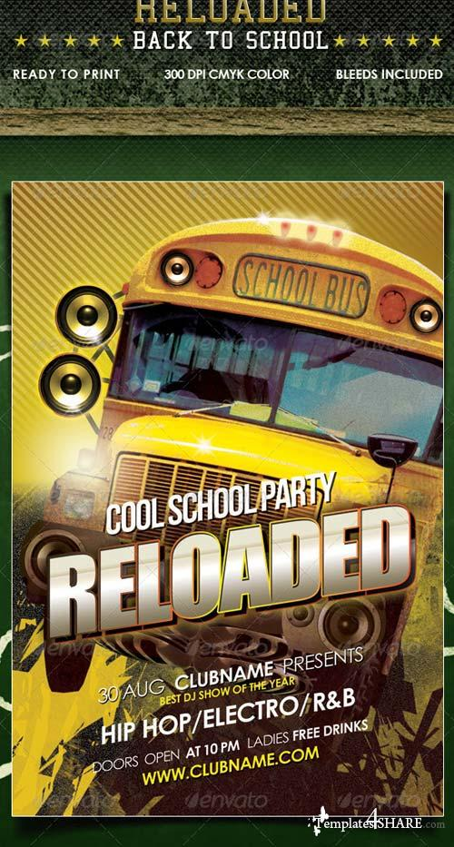 GraphicRiver Back to School Reloaded Flyer