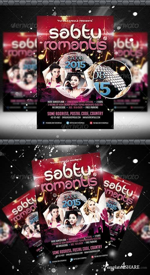 GraphicRiver Sabtu Romantis Flyer Template
