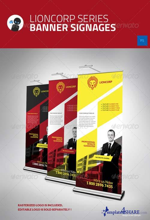 GraphicRiver Lioncorp Series - Banner Signages