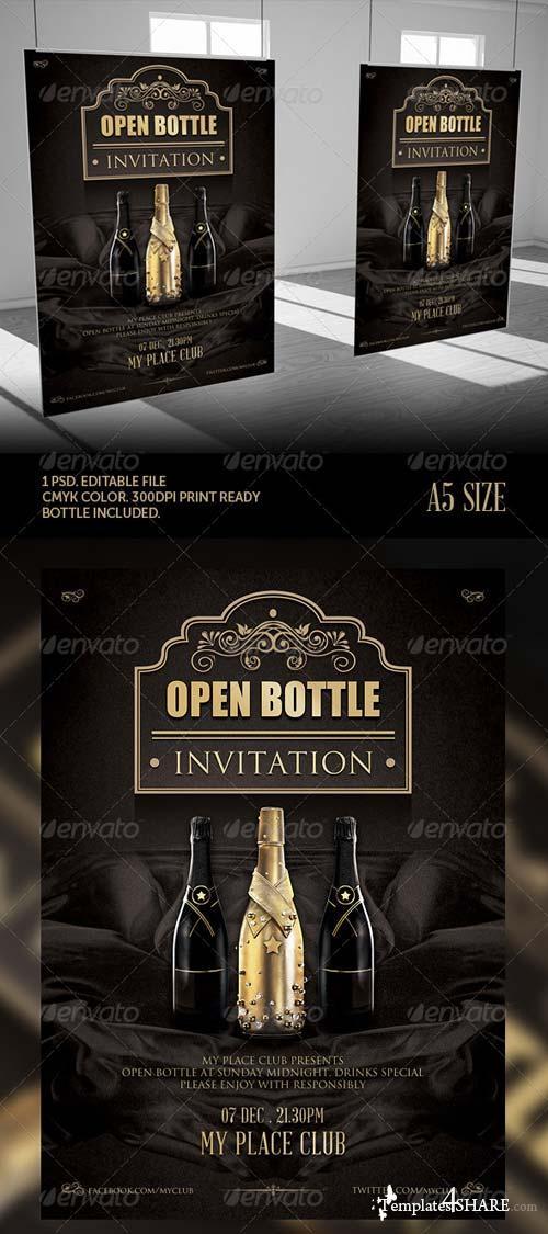 GraphicRiver Classy Open Bottle Invitation Flyer Template
