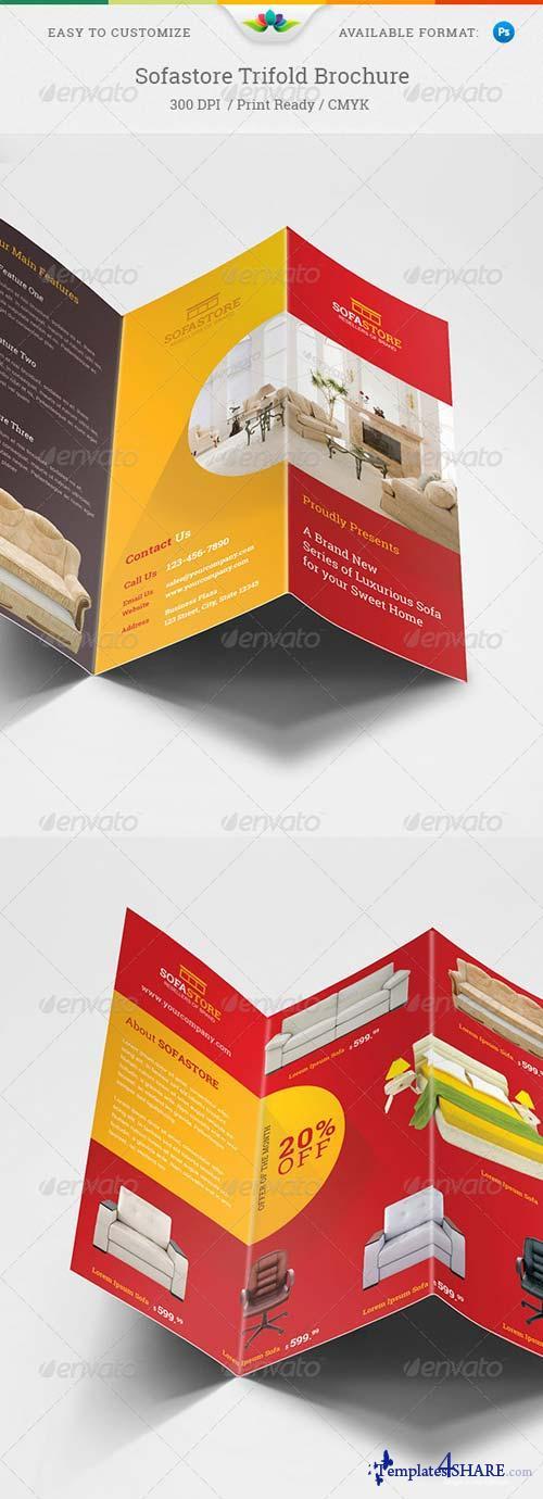 GraphicRiver Sofastore Trifold Brochure