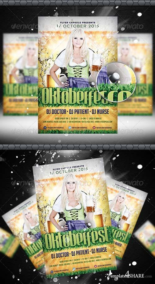 GraphicRiver Oktoberfest Flyer Template 5415675