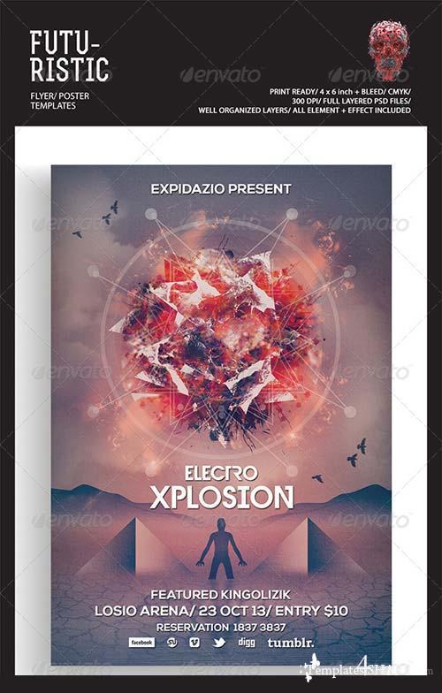 GraphicRiver Futuristic Flyer/Poster 5417128