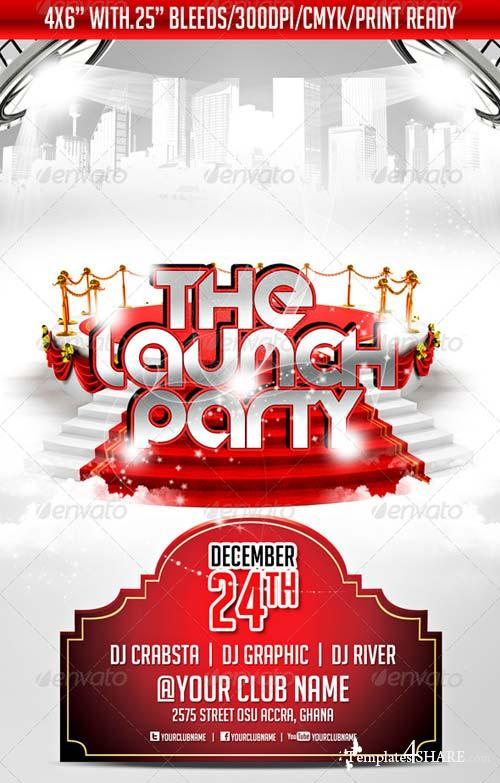 GraphicRiver The Launch Party Flyer Template