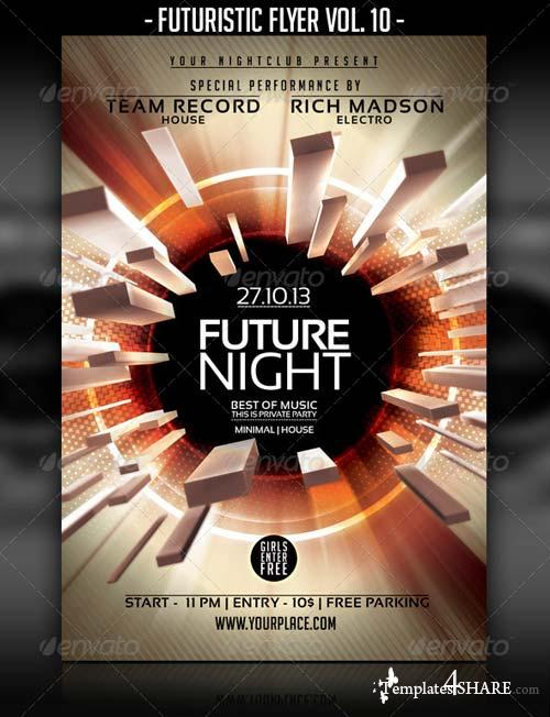 GraphicRiver Futuristic Flyer Vol. 10