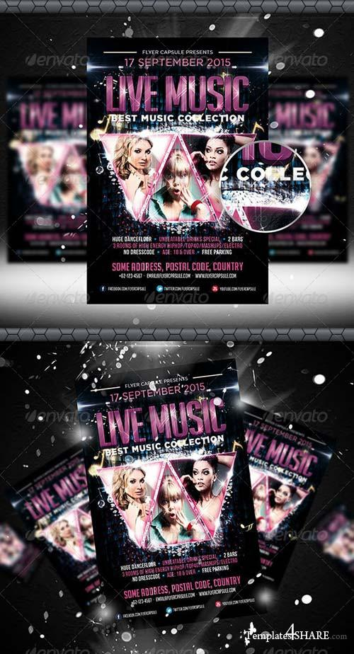GraphicRiver Live Music Flyer Template