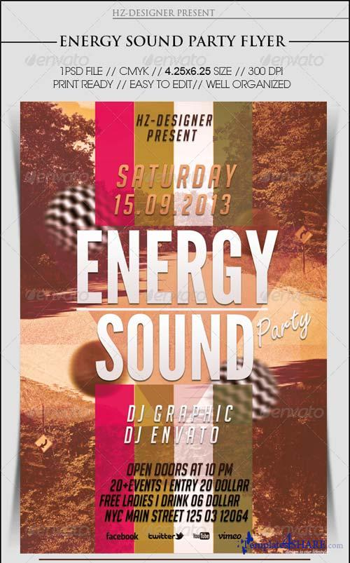GraphicRiver Energy Sound Party Flyer