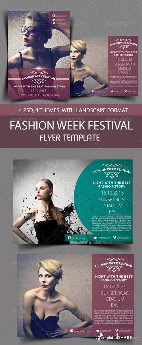 GraphicRiver Fashion Week Festival Flyer