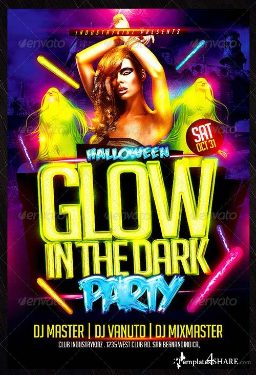 GraphicRiver Glow in The Dark Halloween Flyer Template
