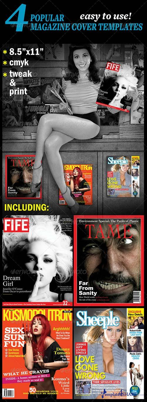 GraphicRiver 4 Popular Magazine Covers Templates